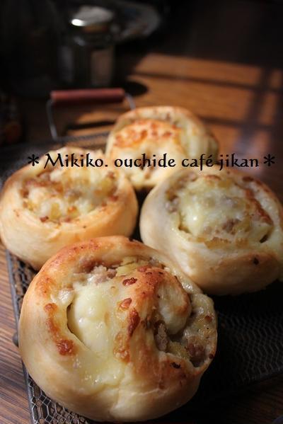 生姜たっぷり肉味噌チーズロール~レシピ付き