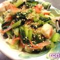 小松菜とカニカマのマヨネーズ炒め