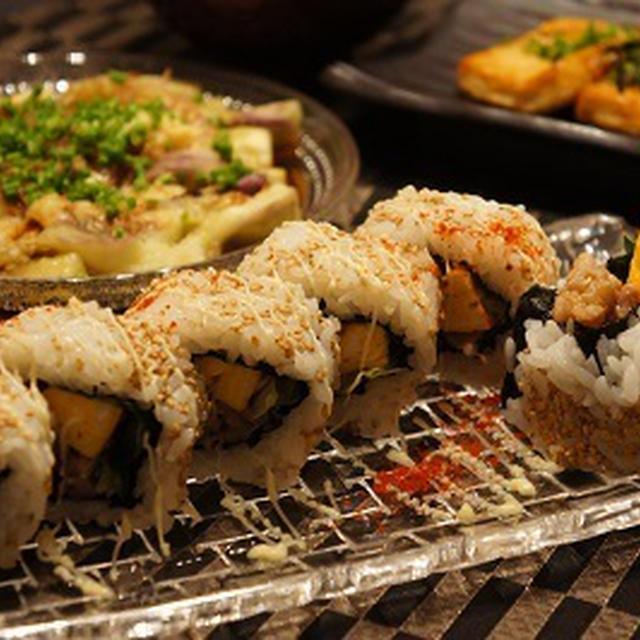 肉巻き寿司ロール