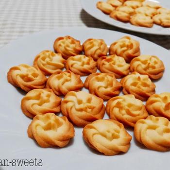 ホワイトデーにもおすすめ!カリカリ♪絞り出しクッキーの作り方♪プレーン味