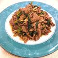牛肉とほうれん草のピリ辛炒め(牛こま切れ肉)