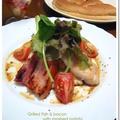白身魚とベーコンのポワレ