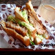 【簡単!カフェサンド】食パンで*鶏の和風竜田揚げサンドイッチ
