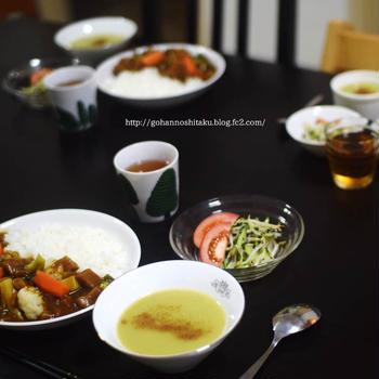 ゴロゴロ野菜のカレーライス
