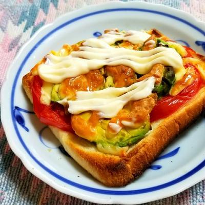 アボカド・トマトのトースト