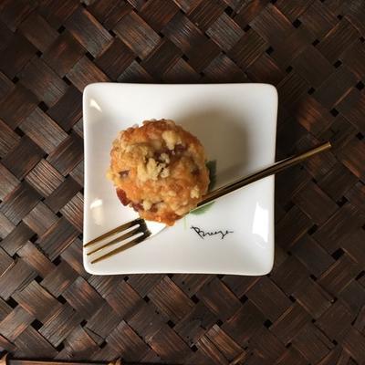 【レシピ】柿のキャラメリゼマフィン