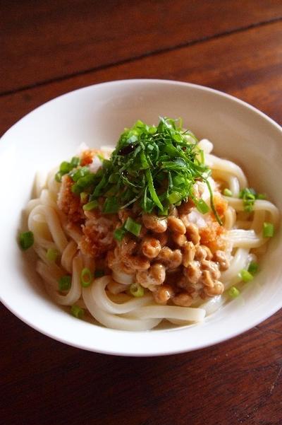 今日の昼ごはん:おろし納豆うどん