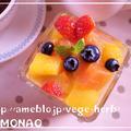 みつまめ缶でマチェドニア♪苺とブルーベリー入れてフルーツポンチ by MOMONAOさん