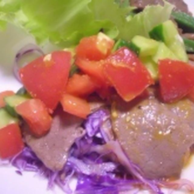 牛肉 キュウリとトマトのカレーソース レシピ
