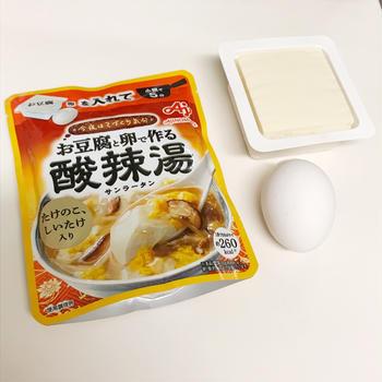 今夜はてづくり気分!お豆腐と卵で作る「酸辣湯」
