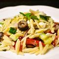 【オルゾで作る 野菜たっぷりパスタサラダ】アボカドオイル&塩レモンドレッシング【印刷用】
