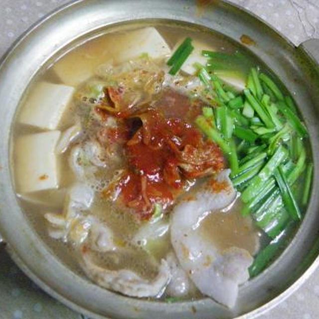 たこ串&おでんの残り汁で日韓キムチ鍋♪