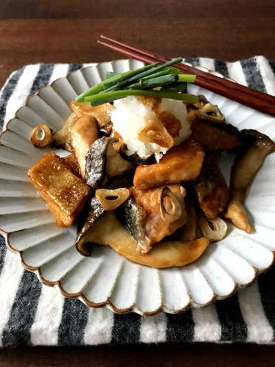 【簡単!!魚レシピ】鮭とエリンギの照り焼きおろしと、