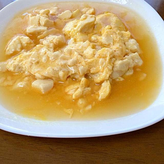 あんかけ 卵 豆腐