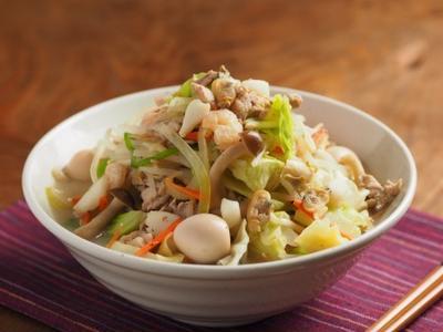シーフードミックスで野菜特盛り海鮮ちゃんぽん