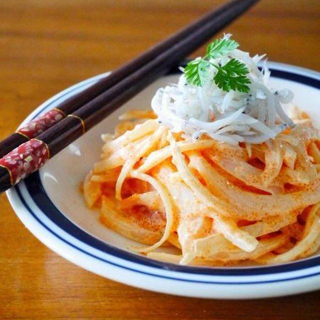 新玉ねぎの明太子マヨネーズあえ♪旬の新玉ねぎ簡単レシピ!切って混ぜるだけ@玉ねぎで血液サラサラ