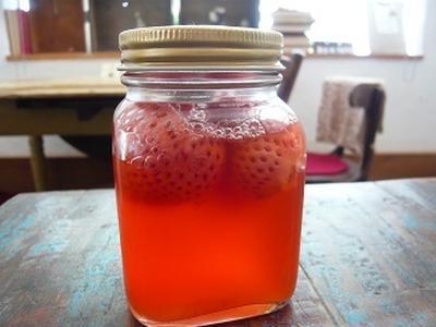 自家栽培自然農法イチゴで天然酵母起こし方