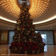椿山荘のクリスマスツリーとオーナメント