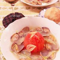 クリスマスに♪丸ごとトマトのボンゴレスープ