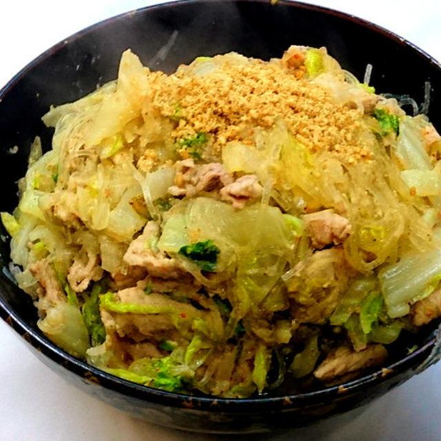 豚肉&白菜&春雨の胡麻&味噌炒め