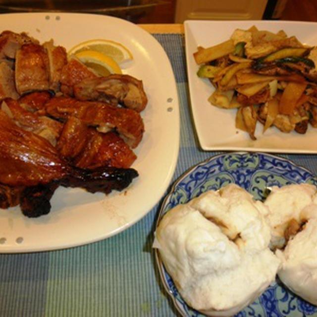 ローストダッグと厚揚げの回鍋肉風野菜炒め