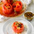 火を使わない♥焼きトマト【#なめらか香味しょうゆがけ #香味野菜 #トースター #リコピン】10分