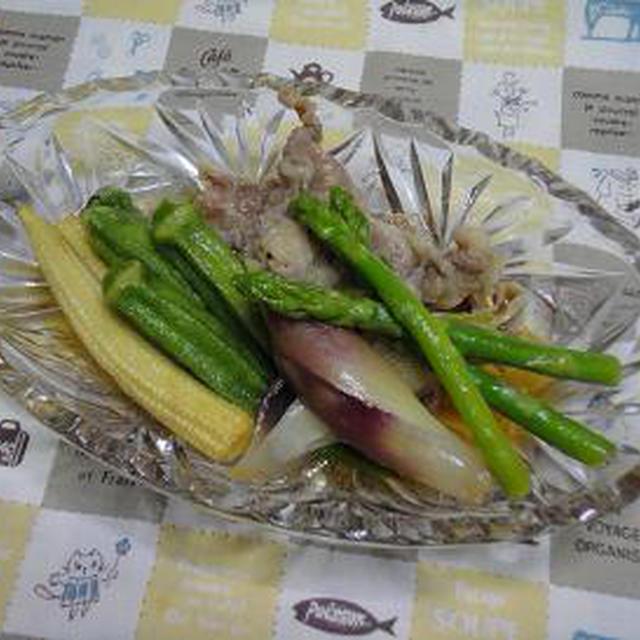 ☆夏野菜と豚ロースのあげびたし☆