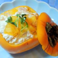 秋になると必ず作る、柿の白和え~☆