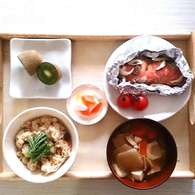 鮭のホイル焼きで朝ごはん~KAT-TUNの田口くん引退に衝撃~