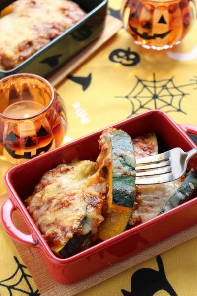 かぼちゃのミートソースチーズ焼き