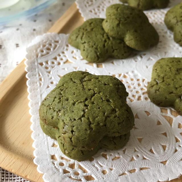 【アレルギー対応レシピ】サラダ油と米粉とお抹茶のクッキー