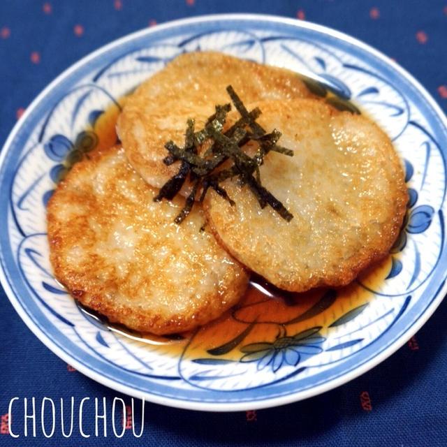 絶品♡麺つゆで長芋のモチモチ揚げ焼き♩-簡単*時短*節約