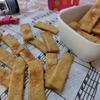 大豆粉とバナナのレンチンクッキー