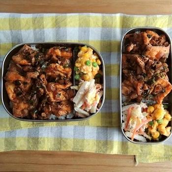 厚揚げ麻婆弁当と麻婆豆腐定食