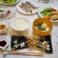 【和食】ジムトンプソンのナプキンと共に/My Homemade Dinner with Napkin of Jim Thompson
