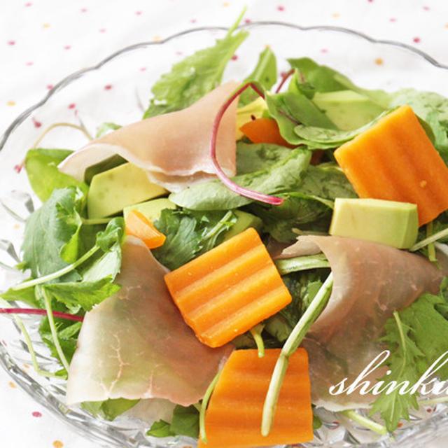 簡単*ミモレットと生ハムの前菜風サラダ
