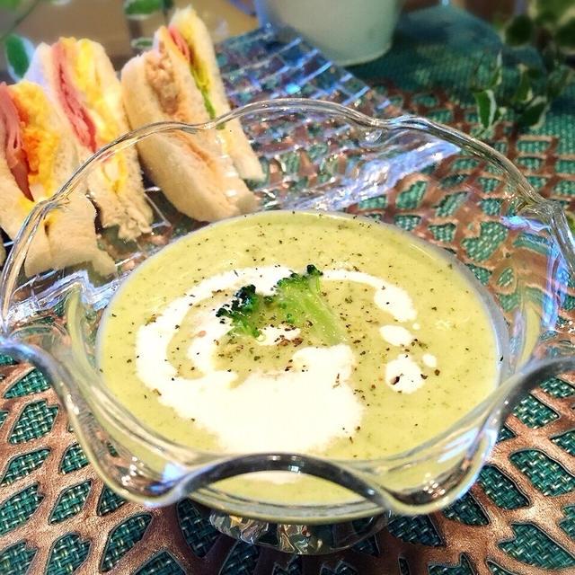 冷た〜い♡体喜ぶ.・☆ブロッコリー冷静スープ