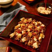 ひき肉と厚揚げの甘辛煮