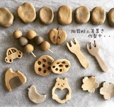 せいせいするほど。陶器粘土で箸置きと炊飯器バナナケーキ