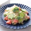 夏野菜のまろやかそうめん☆星型デコきゅうで七夕バージョン by ひなちゅんさん