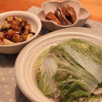 ゆうごはん**白菜のミルフィーユ風&茄子とカブのコロコロ炒め**