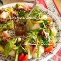 Xmasレシピ☆『クリスマスリースみたいな温野菜サラダ、バーニャカウダドレッシング』、ブラピのロケ地♪