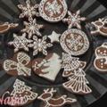 レース模様のクリスマスクッキー!