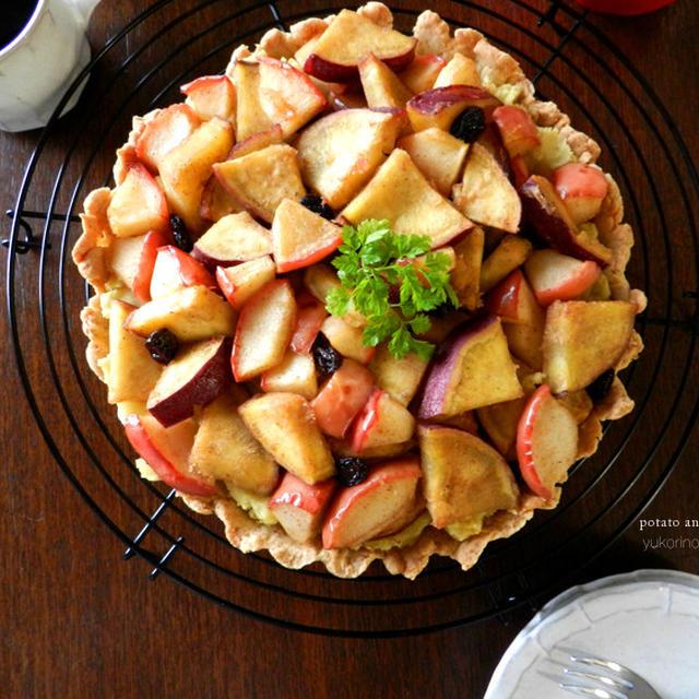 ごろごろサツマイモとリンゴのタルト(芋好きにはたまらんな)