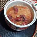 ホタルイカの霙煮、アサリと菜の花の潮汁、アサリの炊き込みご飯で春の酔い