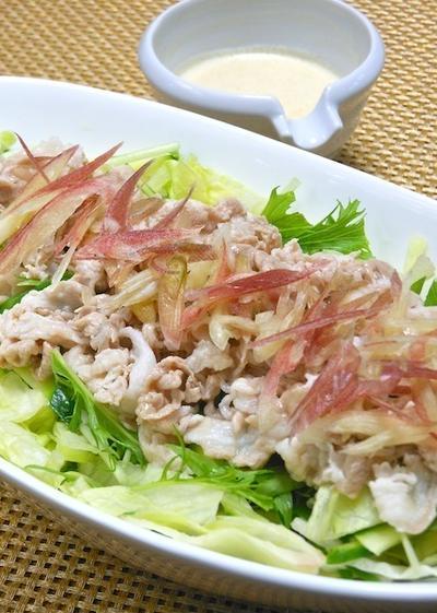 涼味、減塩、ボリューミィ!スパイシーヨーグルトドレッシングの冷しゃぶサラダ。