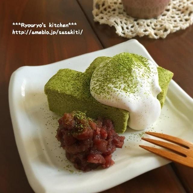 *【レシピ】やさしい~抹茶おからチーズケーキ*