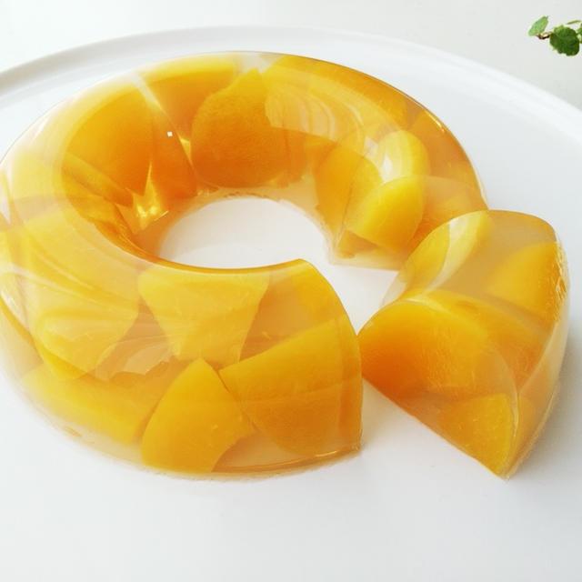 缶詰で作る フルーツ寒天ゼリー