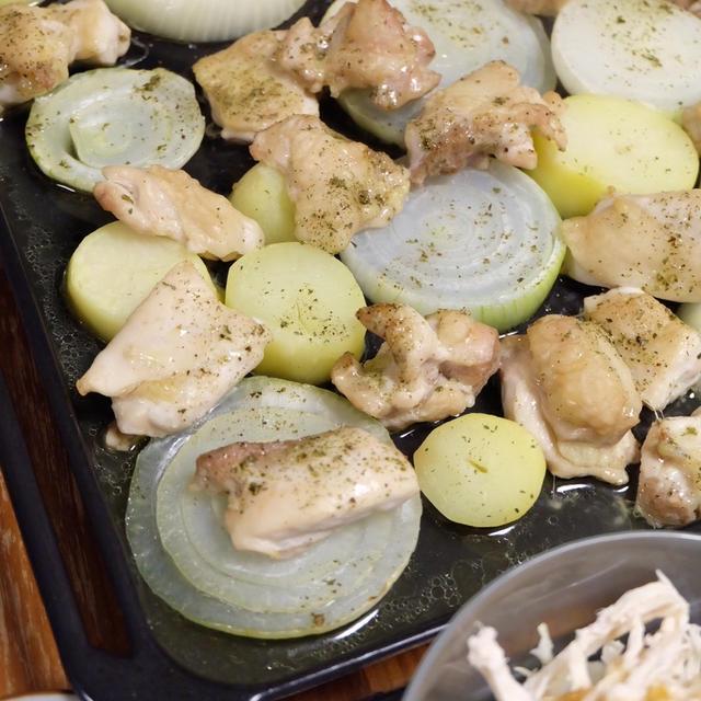 鶏肉のオーブン焼き。