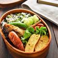 【地味弁】菜めしと塩さばのお弁当ースナップえんどうの美味しい食べ方ー#パパ弁当#